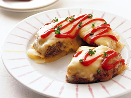 ひき肉とじゃがいものチーズ焼き