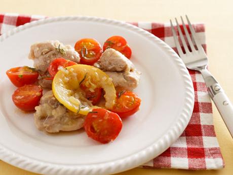 鶏肉とトマトの塩レモン炒め