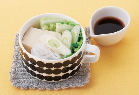 マグで満腹! ボリューム湯豆腐