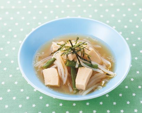 もやしと高野豆腐のみそ煮