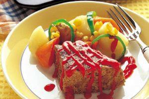 オーブン焼きジャンボハンバーグ
