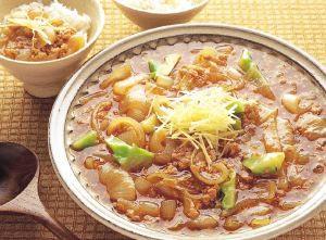 鶏ひき肉と玉ねぎのうま煮
