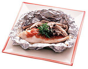鶏むね肉のホイル焼き