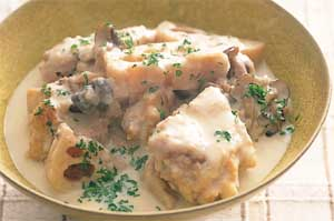 鶏肉とれんこんのクリーム煮