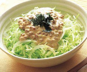 マヨ納豆サラダ