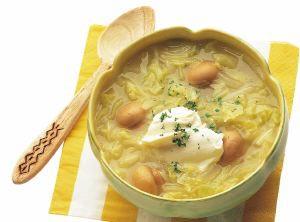 キャベツとマッシュルームのスープ