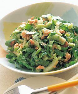 チンゲン菜とツナのサラダ