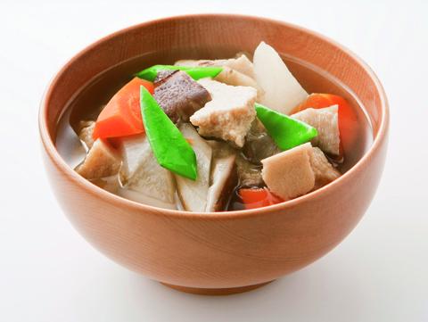 根菜たっぷりのけんちん汁の完成イメージ