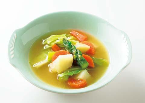 野菜たっぷり塩ヨーグルトスープの完成イメージ