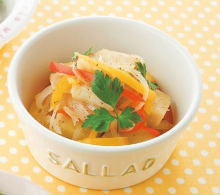 カリカリ高野豆腐とパプリカのマリネの完成イメージ
