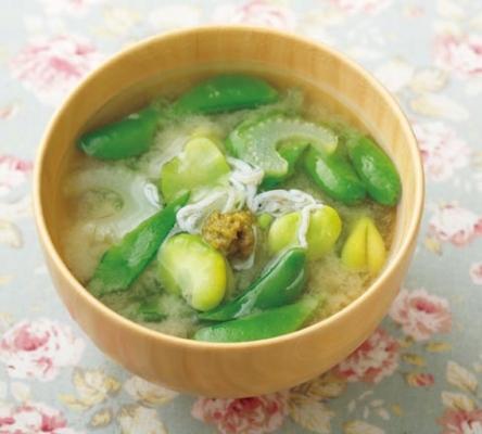 旬野菜みそ汁の完成イメージ