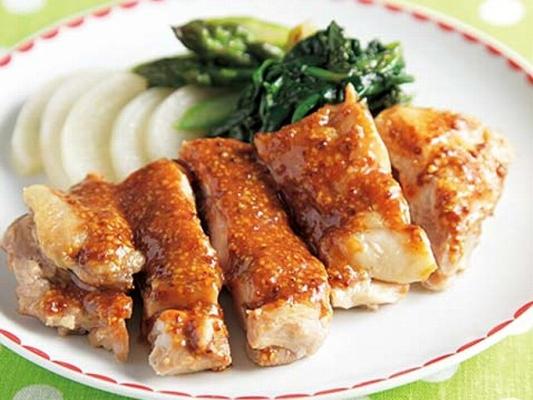 鶏肉のマスタードたっぷりスパイシー焼きの完成イメージ