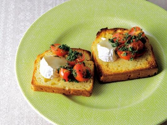 トマトとカマンベールチーズのブルスケッタ風の完成イメージ
