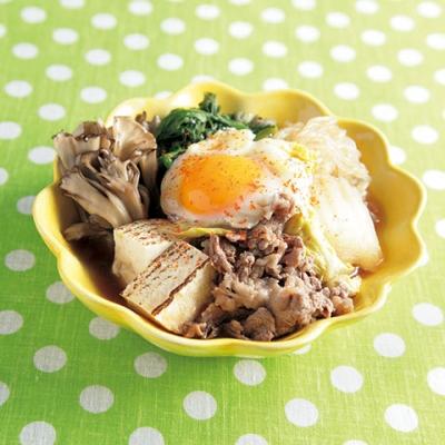 牛肉と豆腐の甘辛すきやき煮の完成イメージ