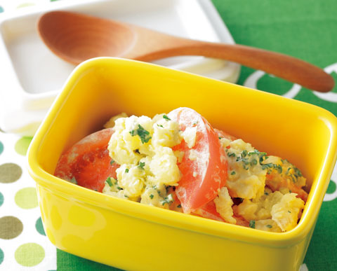 〉トマトポテトサラダの完成イメージ