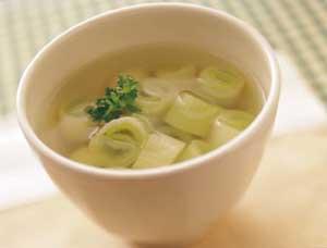長ねぎのスープの完成イメージ