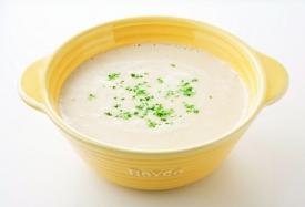 高野豆腐とじゃがいものほっこりポタージュスープの完成イメージ