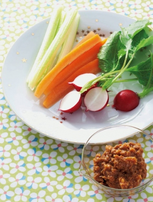 野菜スティック たまねぎみそディップの完成イメージ