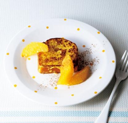 大豆フレンチトーストオレンジ添えの完成イメージ