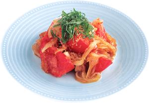 トマトと玉ねぎのおかかサラダの完成イメージ