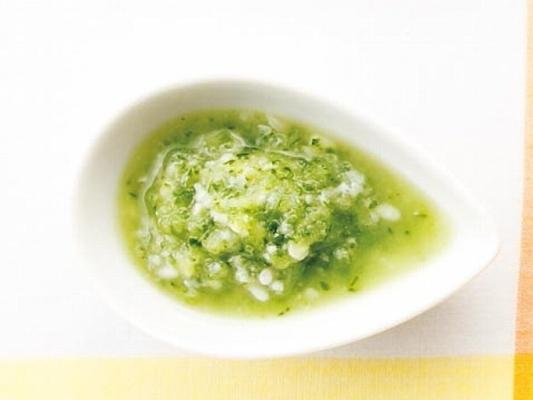 きゅうりと塩麹のドレッシングの完成イメージ