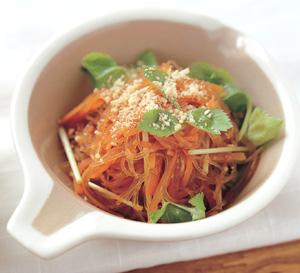 にんじんと春雨の韓国風サラダの完成イメージ
