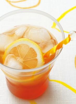 オレンジ&レモンアイスティーの完成イメージ
