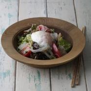 【しらたきヌードル】温泉卵のせ生野菜あえサラダパスタ