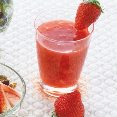 ベリー&オレンジのレッドジュースの完成イメージ