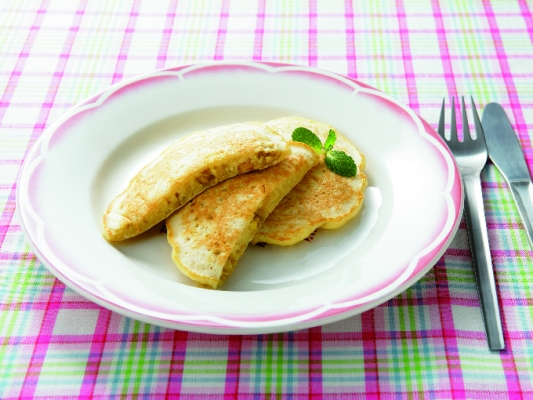 メープル風味の豆腐パンケーキ