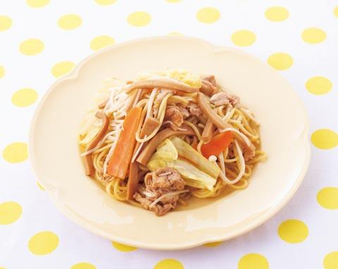高野豆腐のモッチリ焼きそばの完成イメージ
