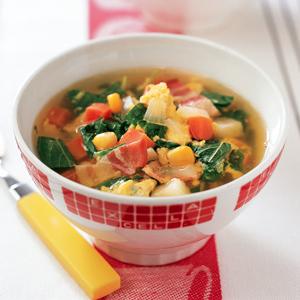 卵と野菜のふわトロスープ