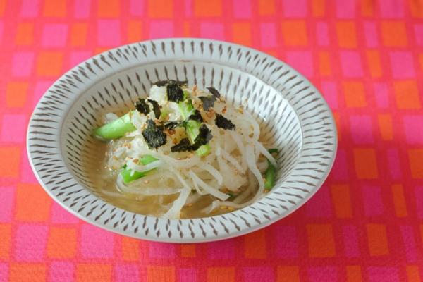 帆立と細切り大根のさっと煮サラダ