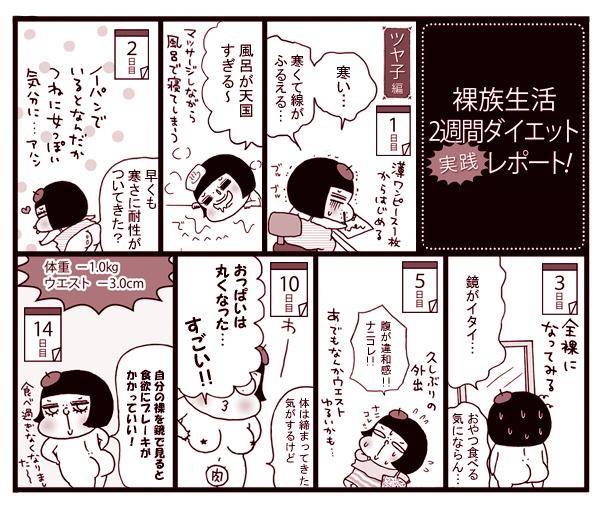 【漫画連載】裸になってやせる「裸族生活」で2週間ダイエット実践レポート