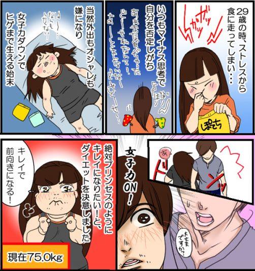 【漫画レポート】簡単「かっさマッサージ」で23kg減に成功!