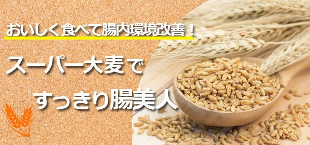 スーパー大麦ですっきり腸美人