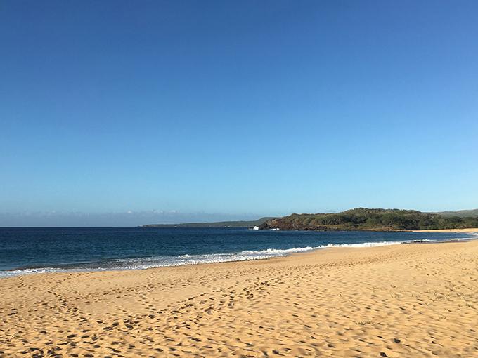 ハワイのキレイな海