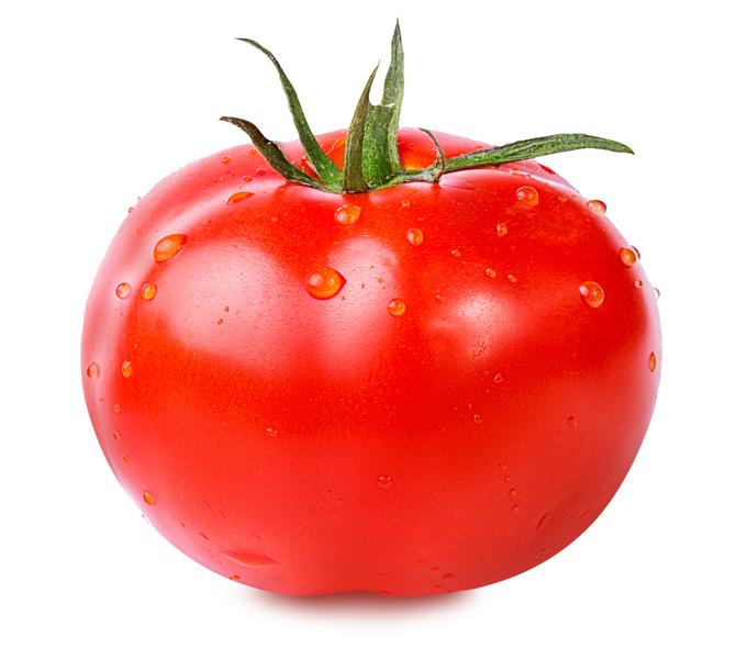 トマトがアップで写っている画像