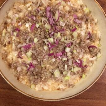 蕎麦の実と山芋のグリルのできあがり