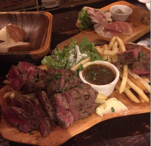 昼、夜は赤身のお肉を中心に。