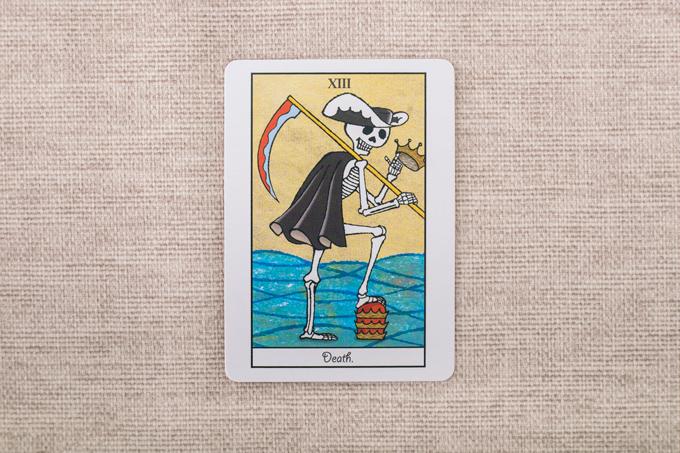 カマを持った骸骨のカード