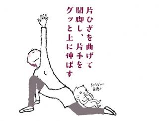 【今日のねこストレッチ】痩せにくい太ももと股関節を伸ばすストレッチ