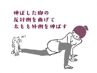 【今日のねこストレッチ】太ももの外側を伸ばしてスッキリ美脚へ!