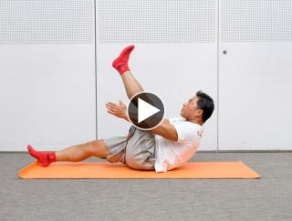 腹筋運動に効果的!自宅でできる自重トレーニング「Vシット」【動画】