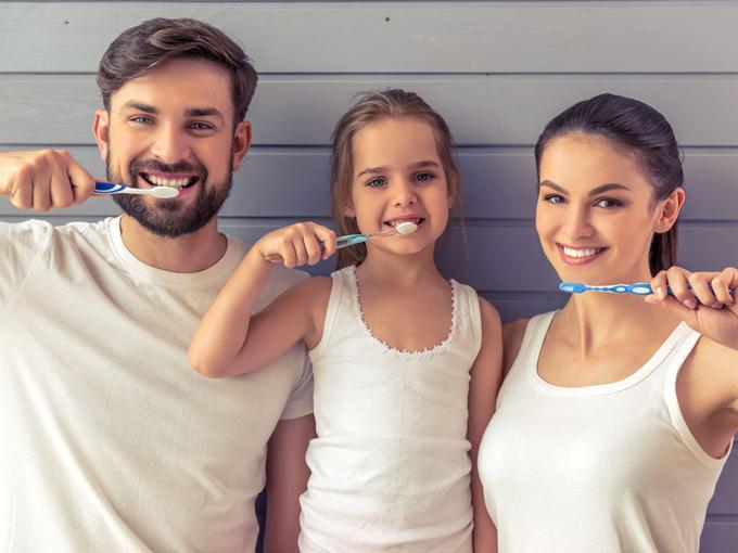 親子で楽しく歯磨きできる