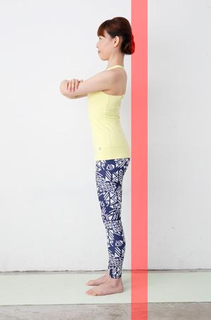 壁の前で立つ練習