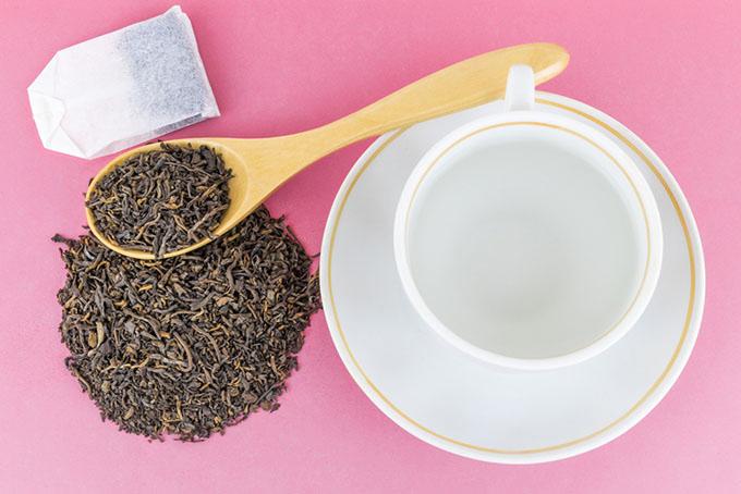 紅茶の茶殻