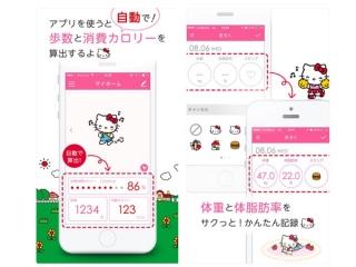キティちゃんのアプリの画像