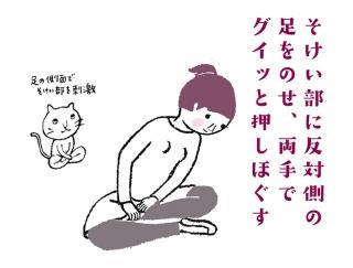 【今日のねこストレッチ】目指せスッキリ美脚!むくみ解消のポーズ