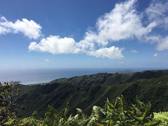 山の上から眺めた景色
